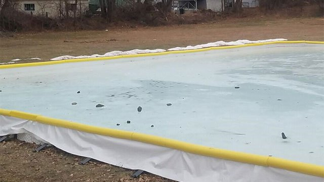 City officials are looking for people who threw rocks onto ice rink in Ansonia. (City of Ansonia Facebook)