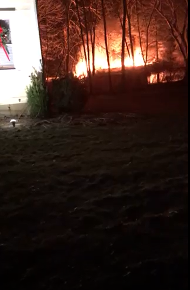 The Rocky Hill Fire Department responded to reports of a structure fire at 50 June Circle around 6:50 p.m. on Friday. (Photo Courtesy of iWitness).