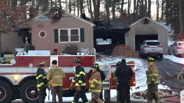 Two people were sent to the hospital after a house fire. (WFSB)
