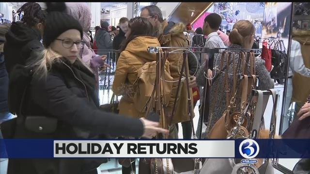 People were preparing to make holiday gift returns on Tuesday. (WFSB file photo)