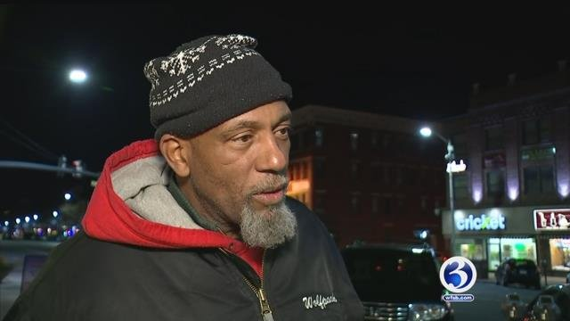 Homeless advocate Dennis Higgins helps spreads the message about the warming centers himself. (WFSB)