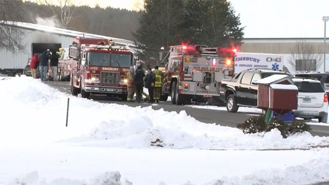 Dozens of horses have died after a fire at Folly Farm in Simsbury on Thursday morning.. (WFSB)