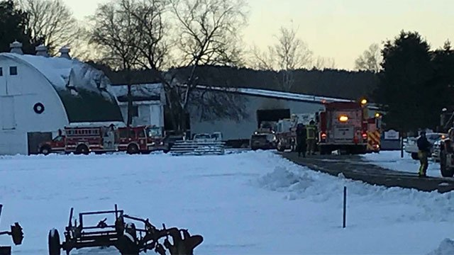 The deputy fire told Channel 3 the fire was concentrated to the barn/stalls where the horses live. None of the horses were able to make it out of the barns. (WFSB)