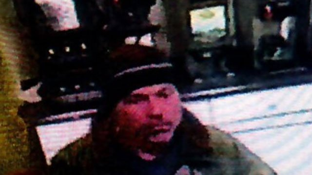 CT State Police released this photo of a man wanted in connection with two robberies.