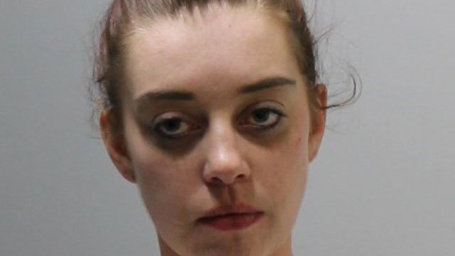 Nicole Hunter was arrested after police said she tried to snort cocaine at the Ledyard Police Department while she was under arrest on Christmas Day. (Ledyard Police Department)
