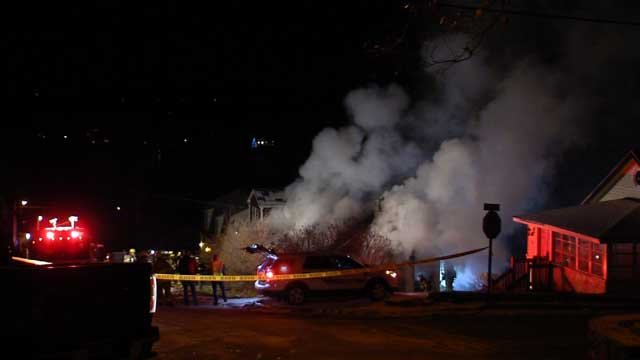 Crews worked through the night to knock down flames at a home in Middlefield (WFSB)