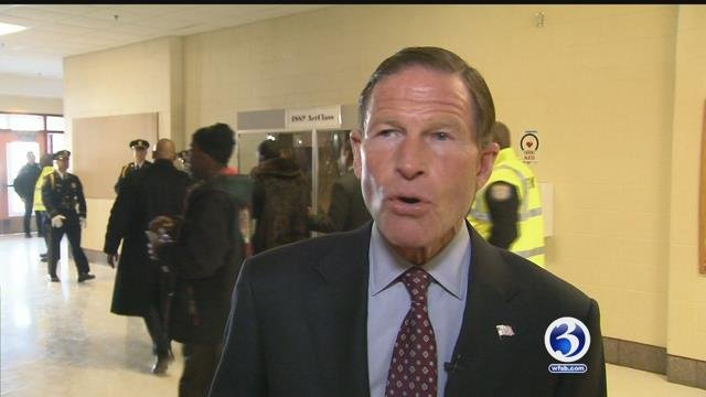 Sen. Richard Blumenthal says the nation's railroads must be made safer, following the latest deadly wreck involving Amtrak. (WFSB file)