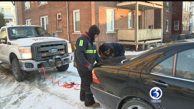 AAA crews responded to calls in bitter cold temperatures on Monday and Tuesday. (WFSB file photo)