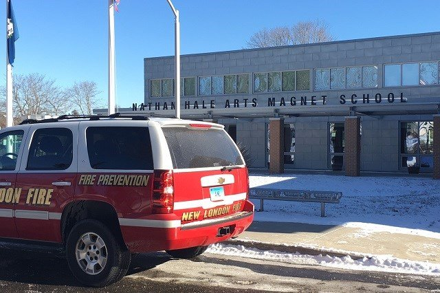 A school in New London will remain closed for the rest of the week due to water damage (WFSB)