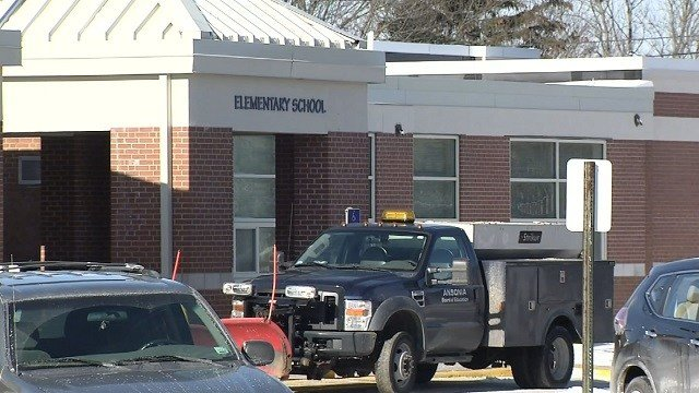 A school in Ansonia was closed on Tuesday after a pipe burst (WFSB)