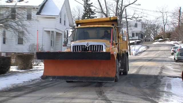 Public works crews were out preparing for Winter Storm Brody on Wednesday (WFSB)