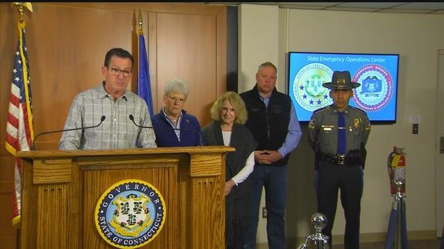 Gov. Dannel Malloy tells Connecticut residents to stay off the roads. (WFSB)