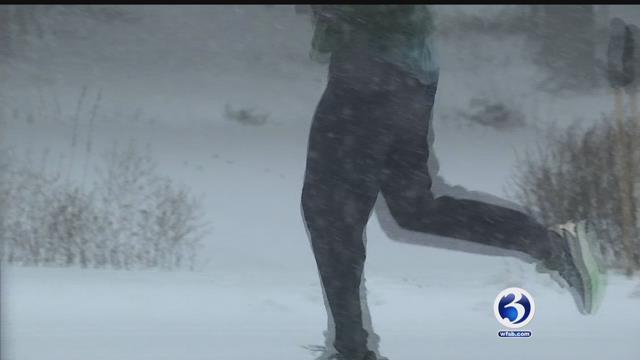 One man went for a run in Elizabeth Park in Hartford on Thursday. (WFSB)