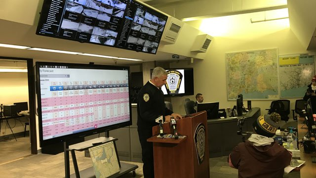 New Haven holds Emergency Operation Center briefing. (WFSB)