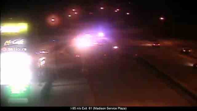A jackknifed tractor trailer has closed part of I-95 south in Madison (CT DOT)