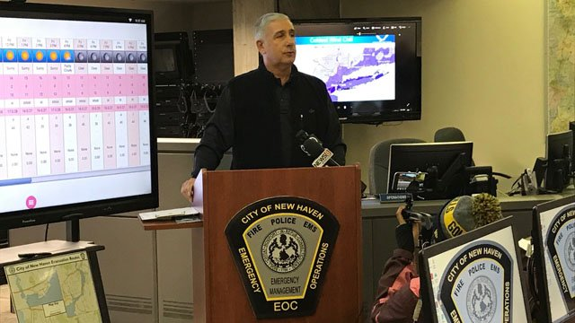Officials in New Haven provided an update Friday on the snow removal following Blizzard Brody. (WFSB)