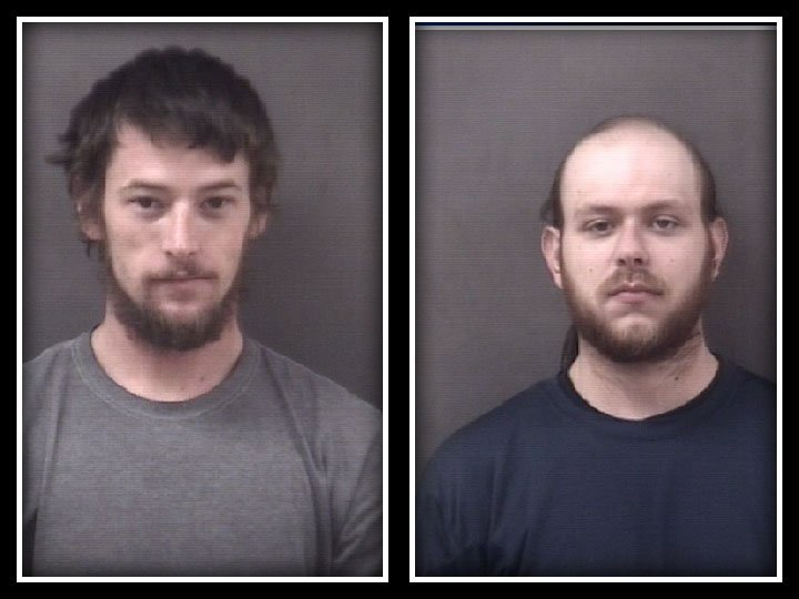 Gregory Ulrich and John Budnovitch  were arrested after police said they stole and killed 20 chickens in Milford on Wednesday night. (Milford Police Department)