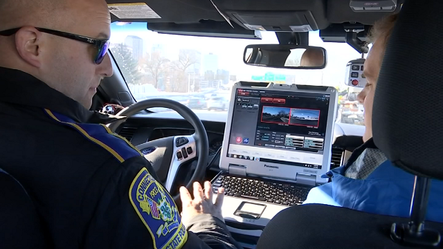 Eyewitness News joined Trooper Falanni on a ride-along on Friday afternoon to get a glimpse of the trooper's responsibilities.  (WFSB)
