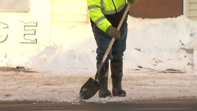 Crews are working to repair two water main breaks in Terryville. (WFSB)