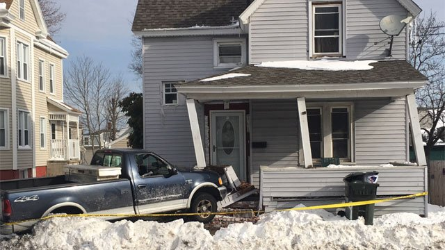 One person was injured after a crash at 15 Coleman St.  (WFSB)