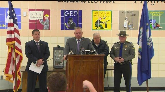 DOC commissioner Scott Semple provided and update on the missing inmate in Enfield. (WFSB)