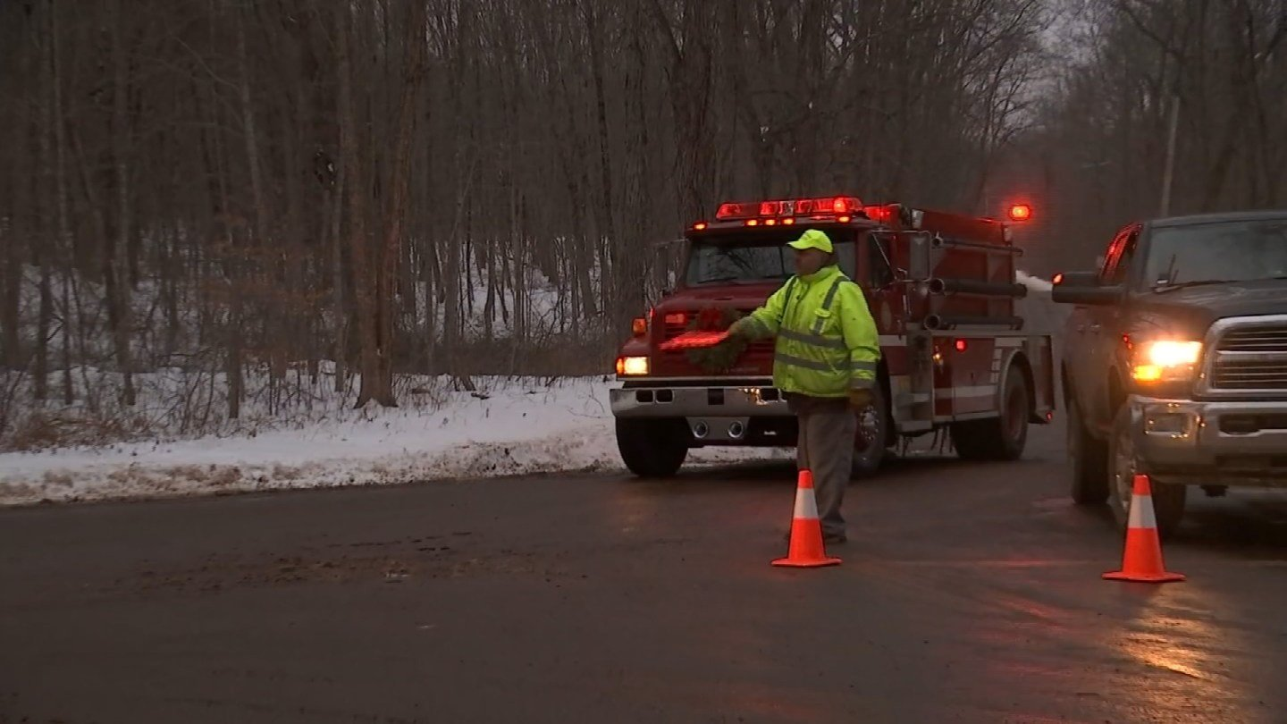 Crews responded to a house fire in East Haddam on Monday (WFSB)