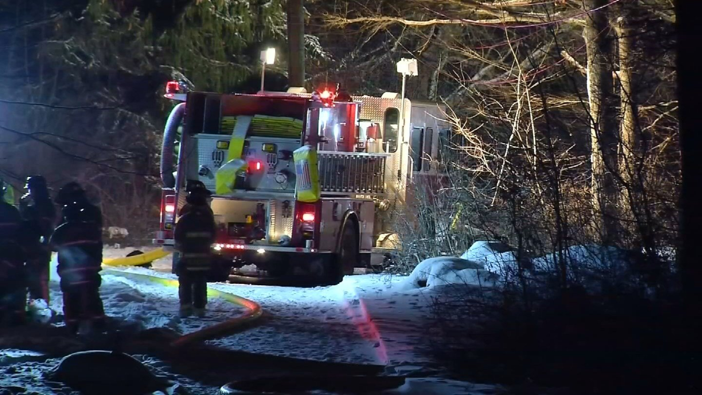 One person is dead following a fire in East Haddam that happened on Monday afternoon. (WFSB)