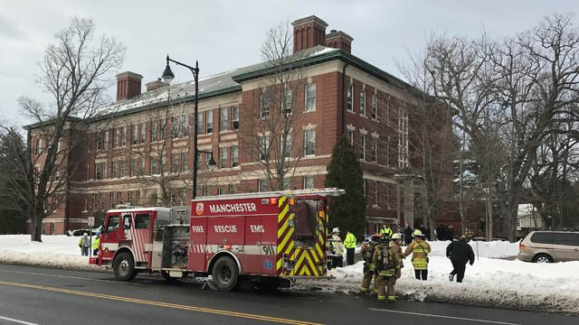 Firefighters fought a fire at a senior housing complex in Manchester on Tuesday morning. (WFSB)