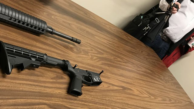 Connecticut State Police Firearms Unit shows the media how bump stocks work. (WFSB)