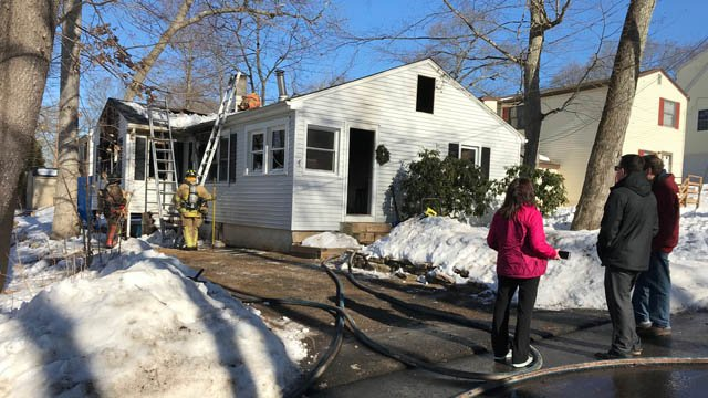 Firefighters responded to a fire at a home in East Hampton on Wednesday morning. (WFSB)