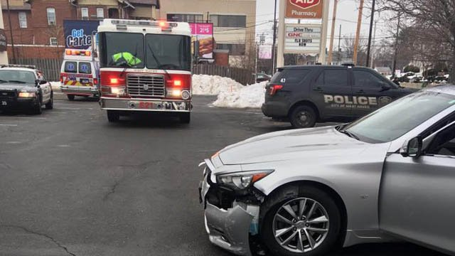 A driver struck a Rite-Aid on Elm Street in West Haven on Thursday morning. (West Haven police)