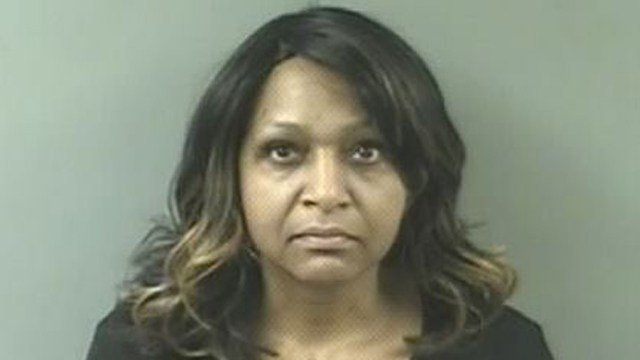 Kimberly Brown is accused of stealing money from the Bridgeport DMV, according to state officials. (DESPP photo)