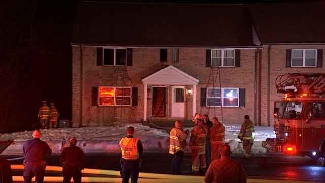 A fire broke out at a home in Manchester on Thursday evening (WFSB)