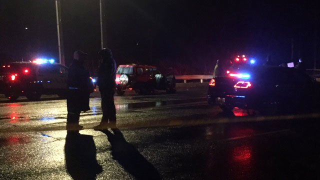 Police are on the scene of the crash in Rocky Hill. (WFSB)