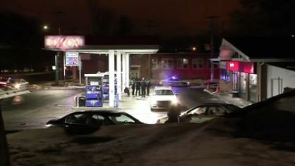 Police said they responded to reports of shots fired near the Exxon Gas Station Convenience Store on Friday morning. (WFSB)