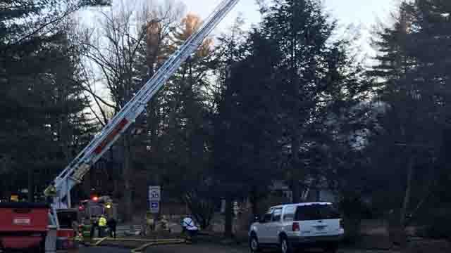 Crews were called to a house fire in Glastonbury (WFSB)