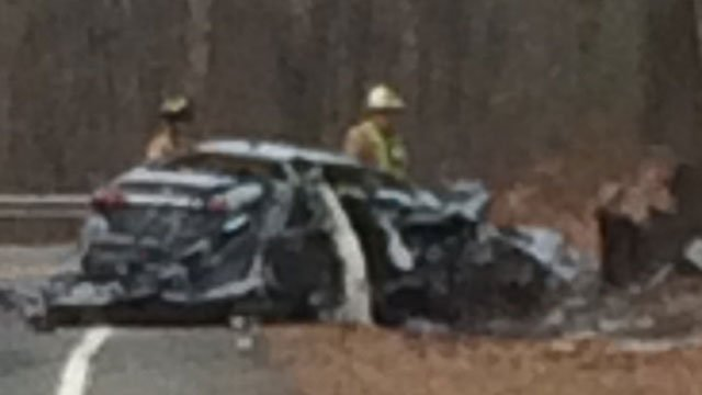 """Authorities are on the scene of a """"serious crash"""" in Bolton. (WFSB)"""