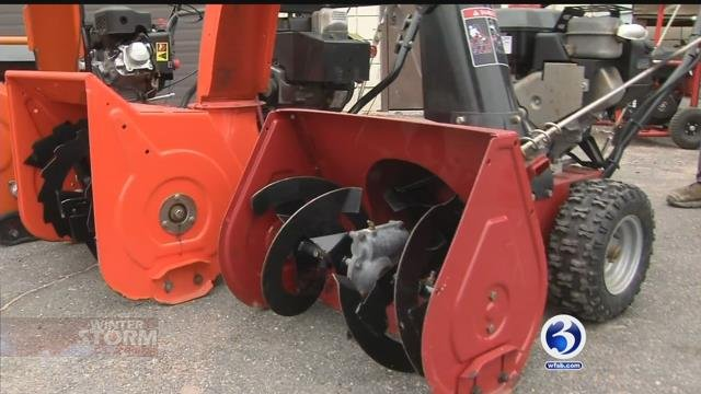 People are preparing for Tuesday's snow storm (WFSB)