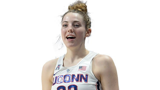 Katie Lou Samuelson scored 19 points as top-ranked UConn survives upset scare from No. 9 Texas 75-71 (AP)