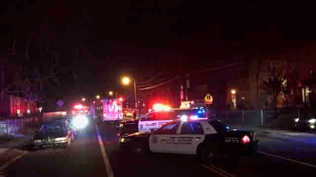 A woman was hit by a car in Hartford on Tuesday night (WFSB)