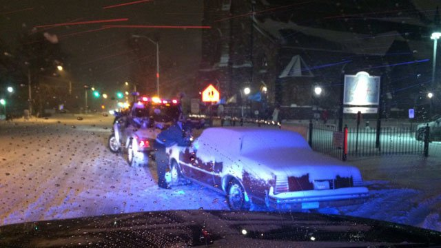Hartford police advised drivers to adhere to the city's parking ban. (Hartford police)