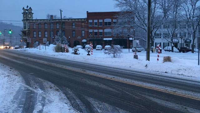 Slushy conditions reported in Winsted. (WFSB)