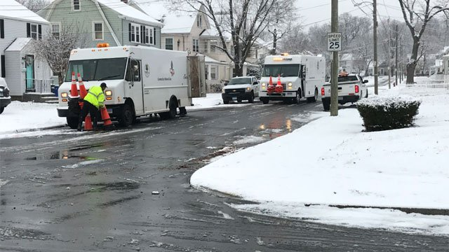 Crews are checking out a potential gas leak in Hartford on Wednesday morning. (WFSB)