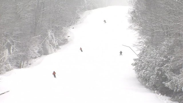 Skierr took to the slopes at Ski Sundown on Wednesday. (WFSB)