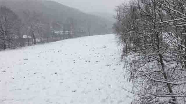 Ice jams along the Housatonic River are causing issues in Kent (WFSB)