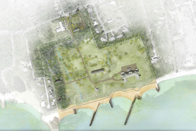 The rendering of the state park proposal (Sasaki)