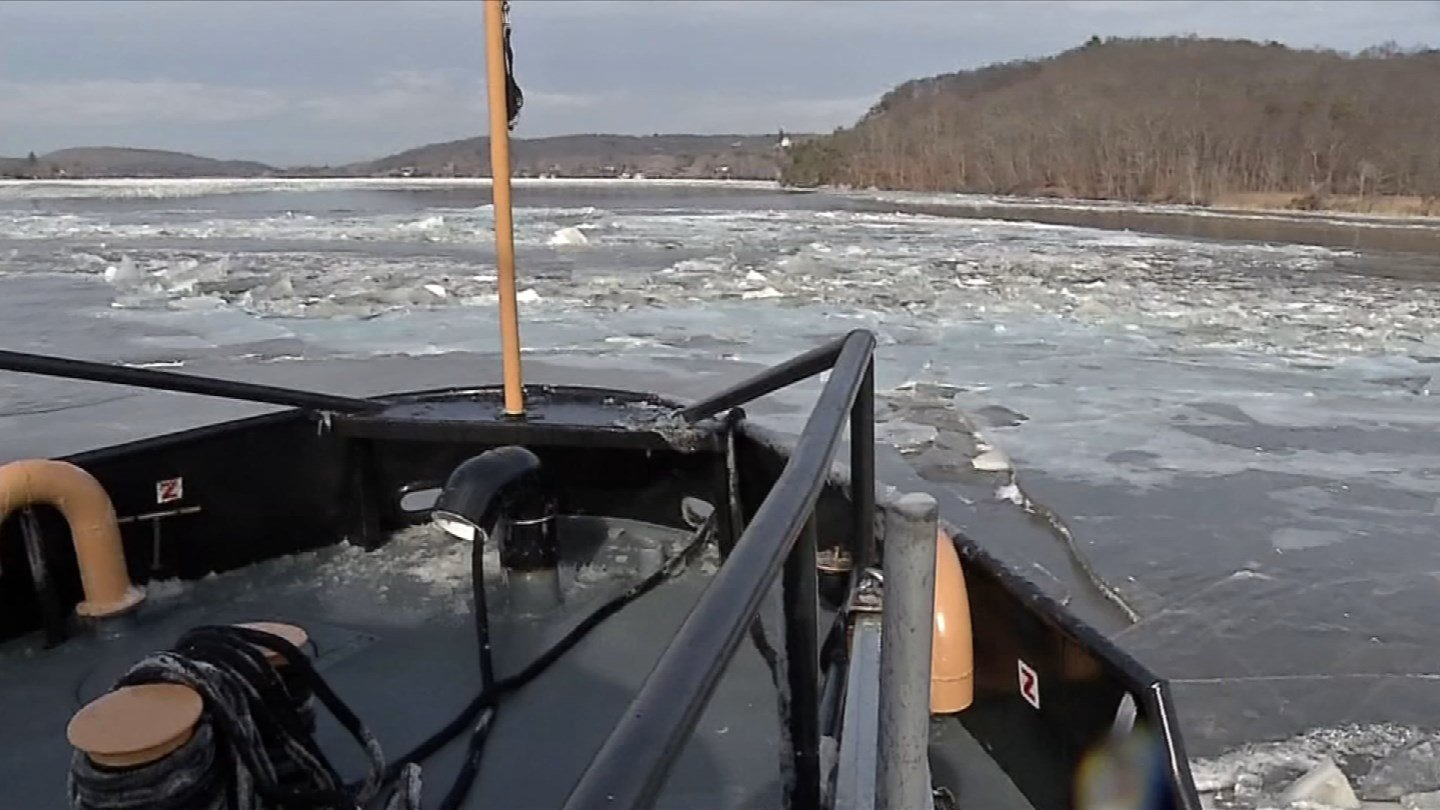 The Coast Guard said its cutters would be back on the Connecticut River on Friday. (WFSB)