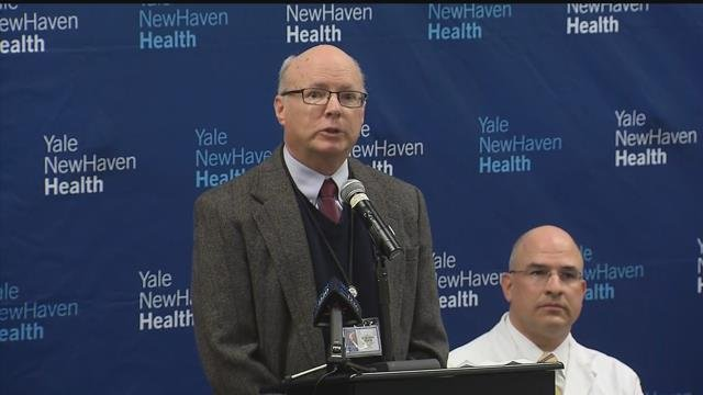 State epidemiologist Dr. Matthew Cartter said there has been a sharp rise in hospitalizations for the flu this season. (WFSB)