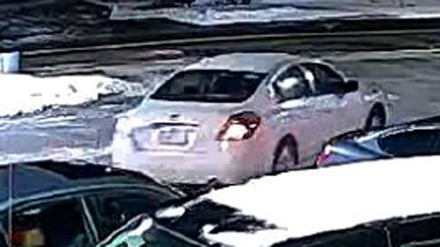 Police are looking for a vehicle involved in a shooting on Thursday. (East Hartford Police Department)