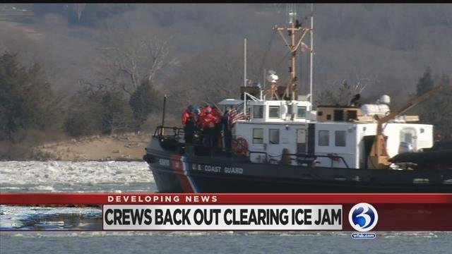VIDEO: U.S. Coast Guard cutters and its crews back out clearing ice jam
